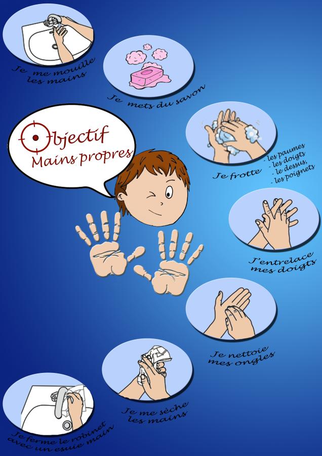 Les maladies infantiles l 39 hygi ne des mains - Protocole de lavage des mains en cuisine ...
