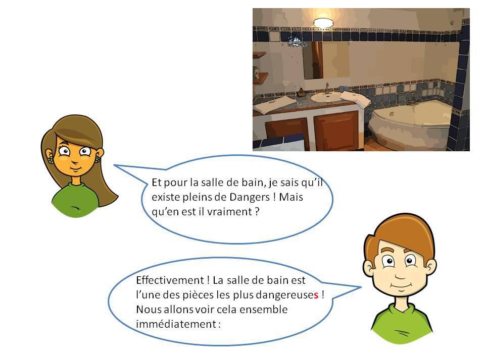 Les accidents domestiques la salle de bains for Accident domestique cuisine